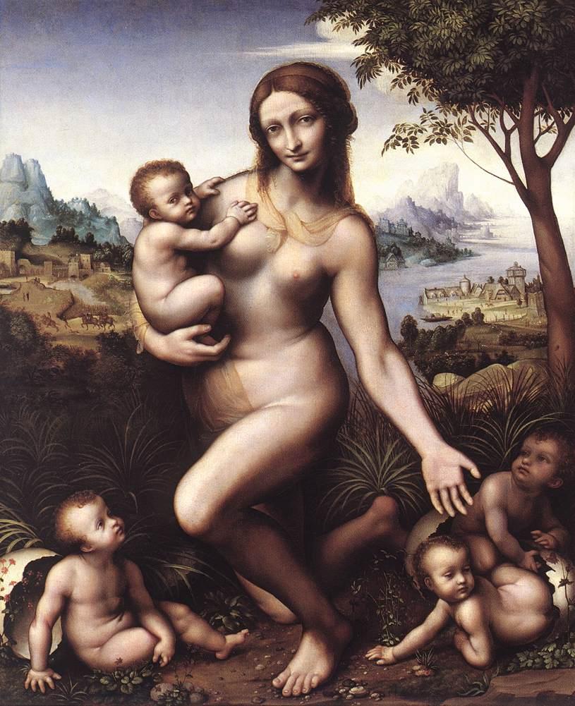 Léda et ses enfants, de Giampietrino