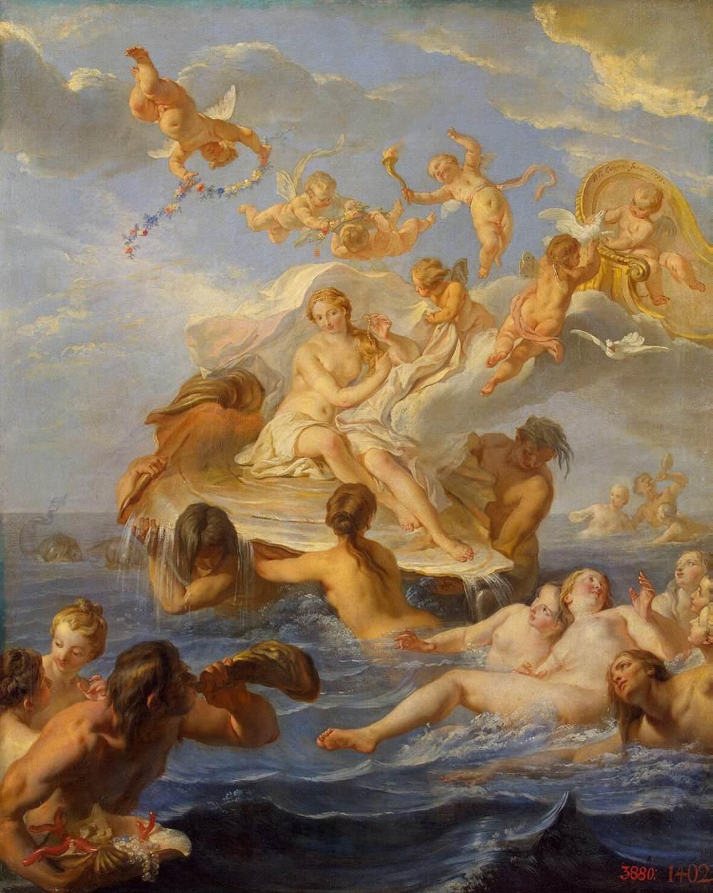 Painting: Coypel Birth of Venus