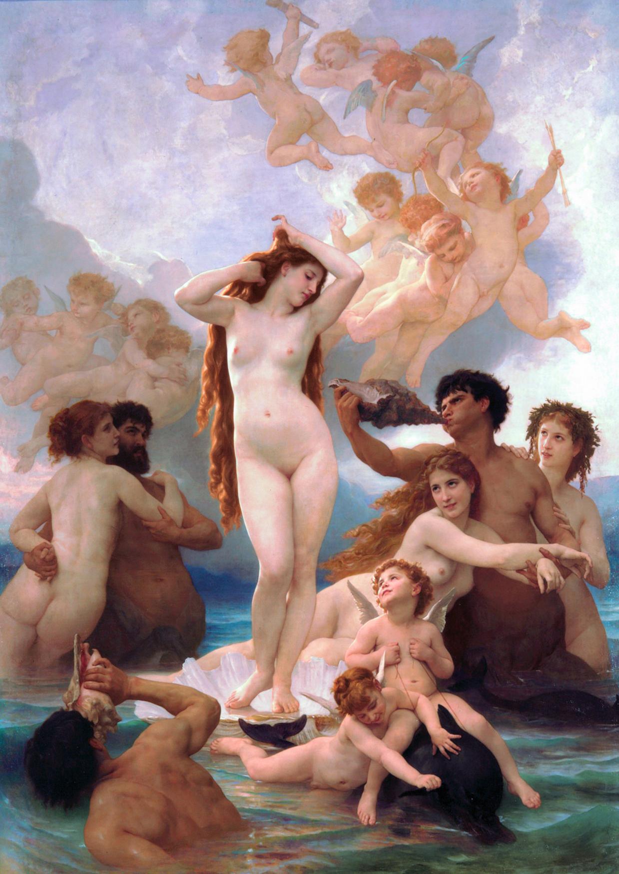 Painting: Beouguereau Birth of Venus