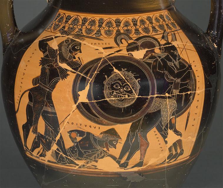 Vase painting Herakles and Geryon