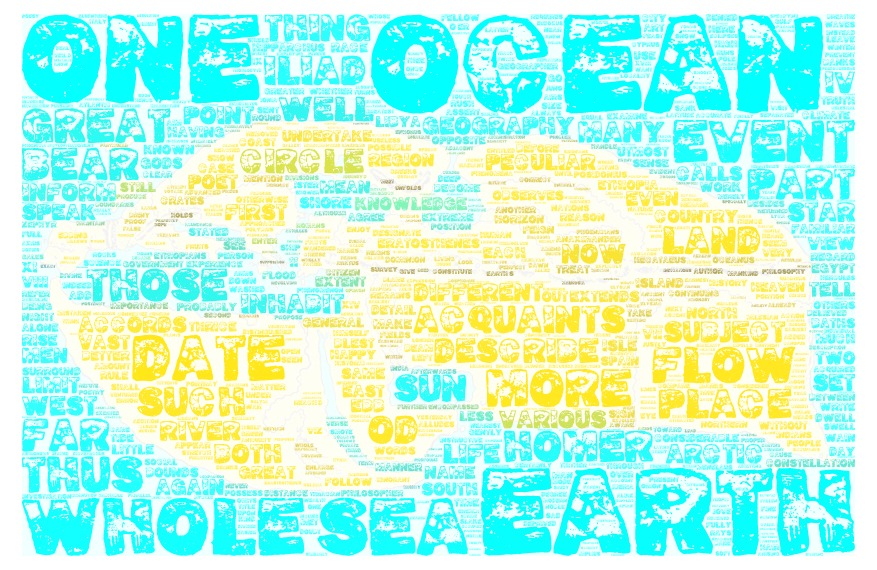 Word cloud: ancient map