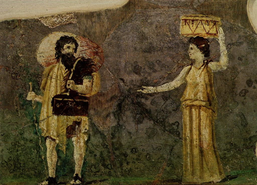 Wall painting: Crates and Hipparchia